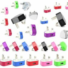 Coloured USB Mains Charger, Wall Charger Plug Adapter for Various Mobile Phones