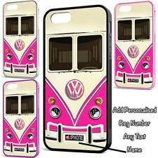 PINK VW CAMPER VAN CASE COVER FOR IPHONE 4 IPHONE 5 IPHONE 6 IPHONE 6 PLUS