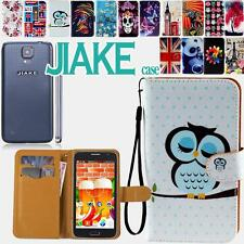 Flip Folio Stand Card Wallet Leather Cover Case For Various Jiake Smartphones