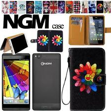 Folio Stand Card Wallet Leather Cover Case For Various NGM FORWARD Smartphones