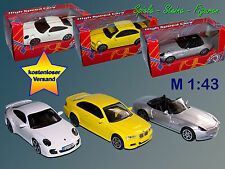 Metal Coche a escala 1:43 , Porsche 911 Turbo, BMW M3, BMW Z8 /
