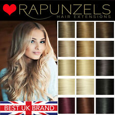 "18"", 20"" full head clip in hair extensions 100% remy human hair"