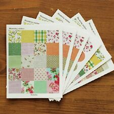 PEGATINA STICKER BLOOMING SCRAPBOOKING KAWAII PAPEL TELA VINTAGE  MANUALIDADES