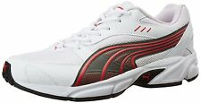 Puma Brand Mens Atom White Red Sports Shoes