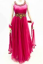 DCS1167 Pink and Gold Designer Churidar SuitDesigner Indian Bollywood Suit