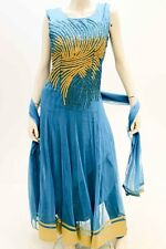 DCS1145 Dark Turquoise and Gold Designer Churidar SuitDesigner Bollywood Suit
