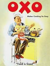 """OXO"" KITCHEN RETRO STYLE SMALL, MEDIUM, LARGE,STEEL WALL PLAQUE METAL TIN SIGN"