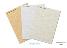 A4 Parch Marque Certificate Papers - 3 Colours To Choose Or Assorted Choice