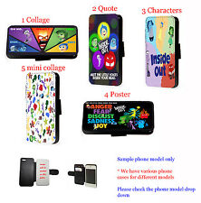 Disney Inside Out leather wallet phone case iPhone, Samsung,HTC, Sony Xperia,LG
