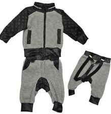 Baby Boys Winter Outfit 3 Piece Set Padded Waistcoat Top Trouser 6-24 Months New
