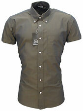Relco Mens Tonic Short Sleeve Shirt Two Tone NEW Mod Retro Skin Vintage All Size