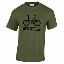 Mountain Bike Cycling Dad green  T-shirt. Cycle cycling biking bicycle top