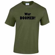 Wur Doomed! Dad's Army Tribute T-Shirt. Comedy sitcom funny gift shirt retro dvd