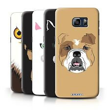 STUFF4 Phone Case/Back Cover for Samsung Galaxy S6 Edge+/Plus /Animal Faces