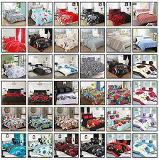 Duvet Cover with Pillow Case Quilt Cover Bedding Set Single Double King  S-king