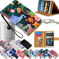 Folio Flip Stand Card Wallet Leather Cover Case For Various HTC One SmartPhones