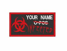 "MORALE -  COSPLAY - ZOMBIE PATCH PERSONALISED ""INFECTED"" NAMETAPE / ZAP"