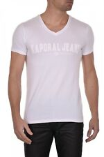 Tee shirt KAPORAL Homme manches courtes MOBO Blanc, Taille S M L XL XXL