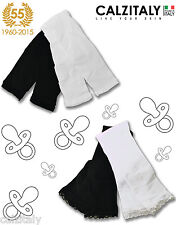 LEGGINGS PANTALONI NEONATO BIMBA BLACK & WHITE 40 DEN MADE IN ITALY MESI