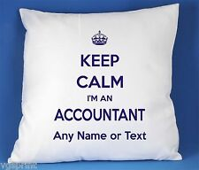 KEEP CALM I'M AN ACCOUNTANT SATIN POLYESTER CUSHION COVER CAN BE PERSONALISED