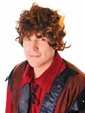 Brown Hobbit Wig Lord Of The Rings Fancy Dress Frodo