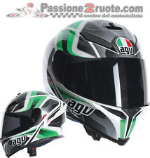 Casco Agv K5 K-5 Trasformer white black green moto helmet casque integralhelm