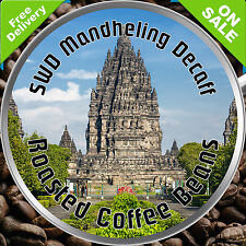 SWD Mandheling Decaffeinated Decaff MED or DARK Roast Coffee Bean Ground 1kg 6kg