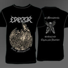 Erazor - Dust Monuments T-Shirts -BLACK THRASH METAL DARKNESS KREATOR-
