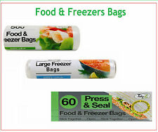 Strong Food & Freezer Bags (60,250&500 Pack) Used for freezing all food Type