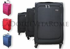 Valigia Trolley Set 3 Valigie + BEAUTY CASE Ultraleggero in POLIESTERE 4 RUOTE