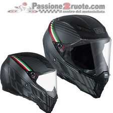 Casco integrale Agv AX8 Ax-8 naked Carbon Black Forest Grey fibra carbonio