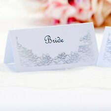 5 x Personalised Place Cards – Weddings etc  – Look of Lace