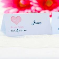 5 x Personalised Place Cards – Weddings etc  – Filigree Heart