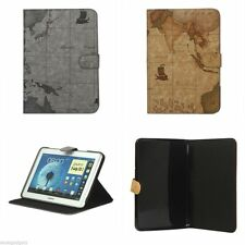 World Map Folio Cover Case with Stand for Samsung Galaxy Note 10.1 N8000 N8010