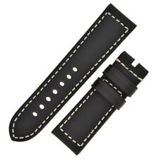 Panerai Style Marino Leather Watch Strap in BLACK