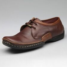 EGOSS BRAND NEW BROWN LACED PURE LEATHER CASUAL FORMAL SHOES ARTICLE 354 SALE