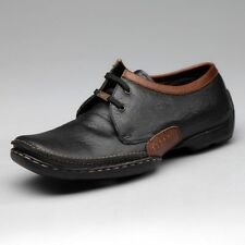 EGOSS BRAND NEW BLACK LACED PURE LEATHER CASUAL FORMAL SHOES 354 SIZE 13