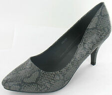 SPOT ON F9731 Ladies Snake Skin Court shoes