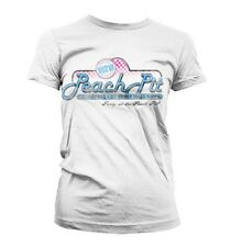 Beverly Hills 90210 : Peach Pit - T-Shirt Girlie Femme Blanc NEUF Officiel
