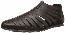 Franco Leone Brand Men's Brown Leather Sandals and Floaters 9460