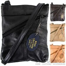 DAMES EN CUIR CROSS BODY BAG / SAC À MAIN (NOIR, BRONZAGE, MARRON, BRUN FONCÉ)