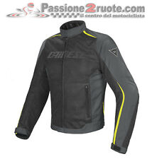 Giacca Dainese Hydra Flux D-Dry Nero Dark-Gull-Gray Giallo-Fluo Moto Jacket