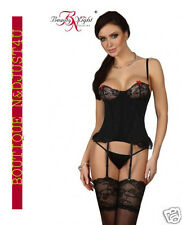 ** CORSET GUEPIERE BUSTIER SATIN  STRING BEAUTY NIGHT SHIRLEY / LINGERIE ***