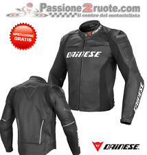 Giacca pelle Dainese Racing D1 Nero Black Moto leather Jacket