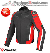 Giacca Dainese Super Speed D-Dry Nero Rosso Bianco Moto Jacket
