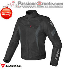 Giacca Dainese Air Crono Tex Nero Nero Dark-Gull-Gray Moto Jacket