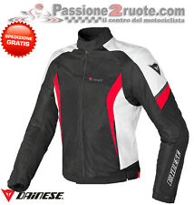 Giacca Dainese Air Crono Tex Nero Bianco Rosso Moto Jacket