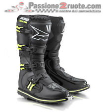 Stivali Axo Drone Limited Edition Nero Giallo Cross Enduro Boots