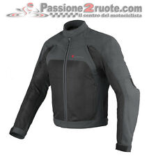 Giacca Dainese Air Flux Tex Dark-Gull-Gray Nero Moto Jacket