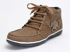 Quarks Men's Stylish Casual Shoes with Side Buckle - Brown Color - Q1031BR
